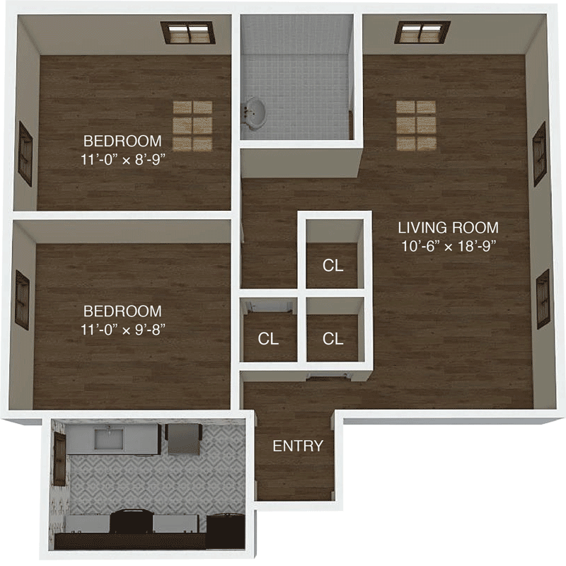 Apartment A Floor Plan