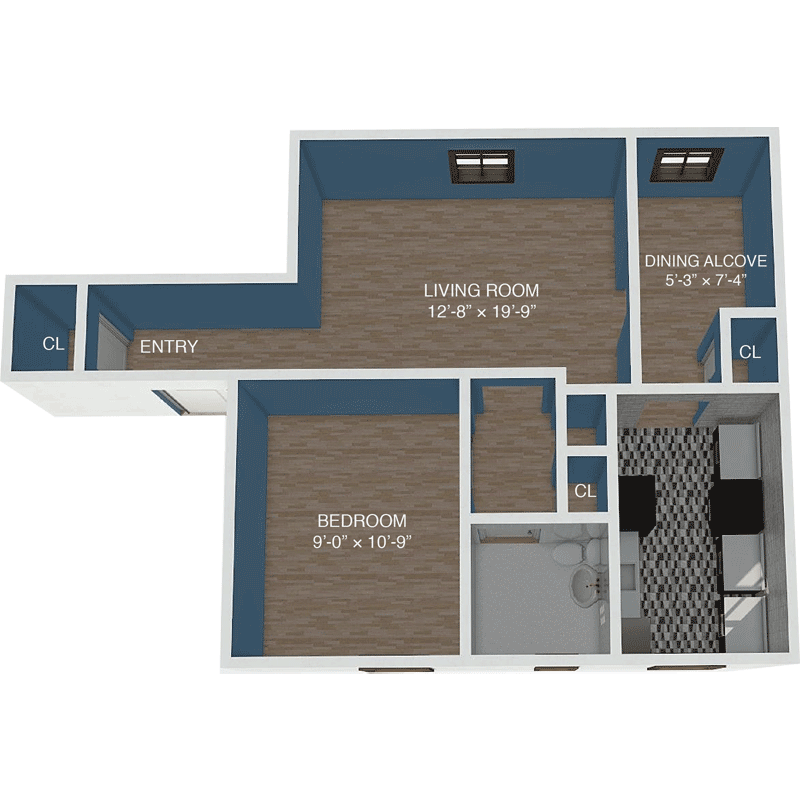 Apartment D Floor Plan