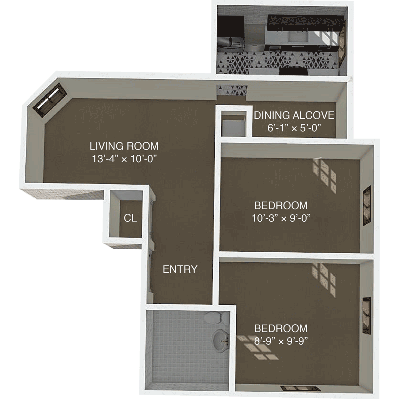 Apartment F Floor Plan