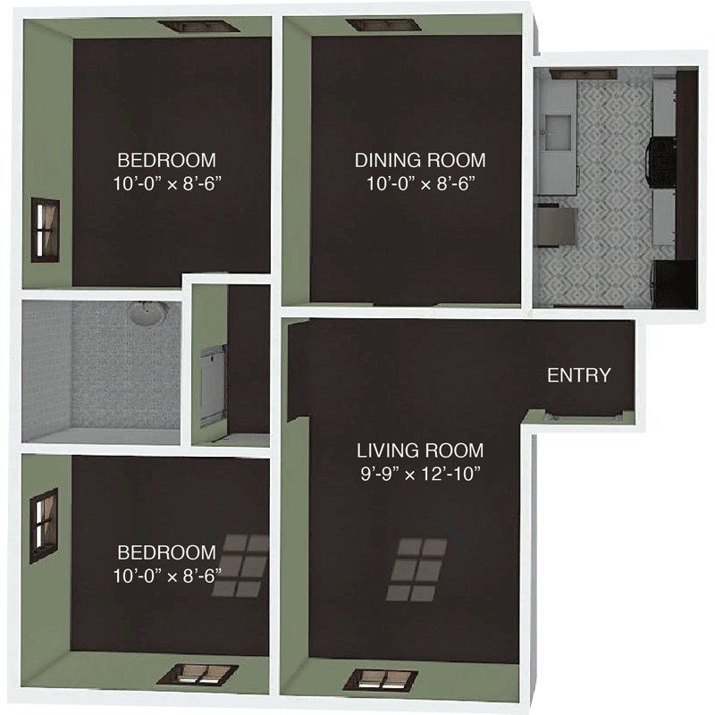 Apartment H Floor Plan